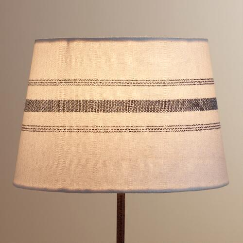 Blue French Stripe Accent Lamp Shade