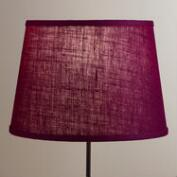Wine Burlap Table Lamp Shade