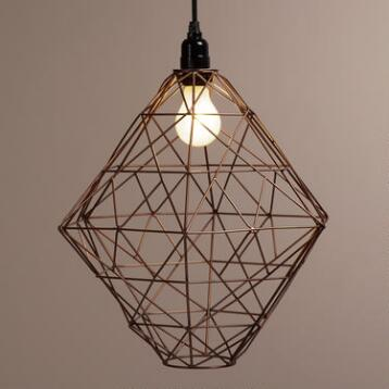 Copper Hexagon Twisted Wire Pendant Lamp