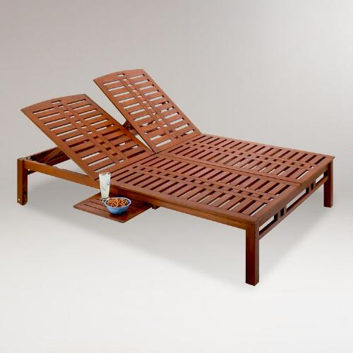 Kona Double Pool Lounger with Side Tray