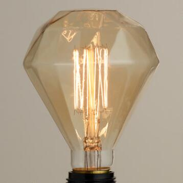 Amber Diamond Filament Light Bulb