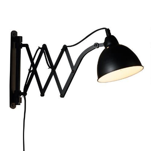 Black Metal Accordion Wall Sconce