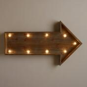 Wood Arrow LED Marquee Sign