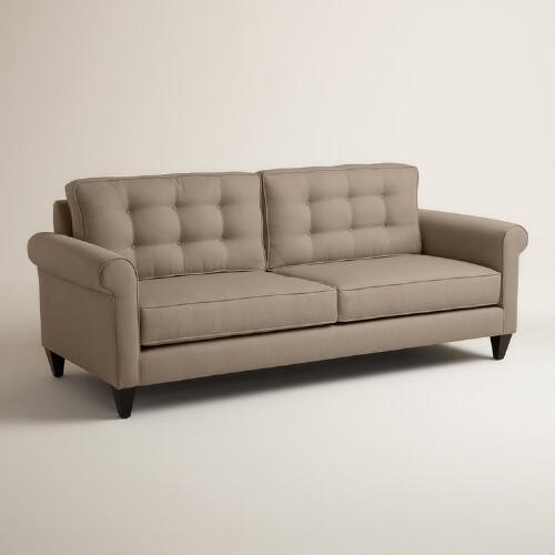 Dining Room At Kendall College: Textured Woven Bryson Upholstered Sofa
