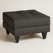 Chunky Woven Bryson Upholstered Ottoman