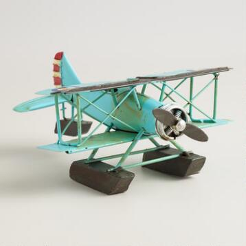 Metal Vintage Airplane Decor