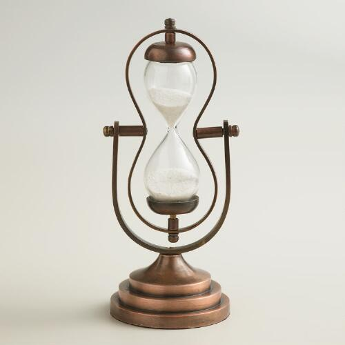 Sand Timer with Brass Base