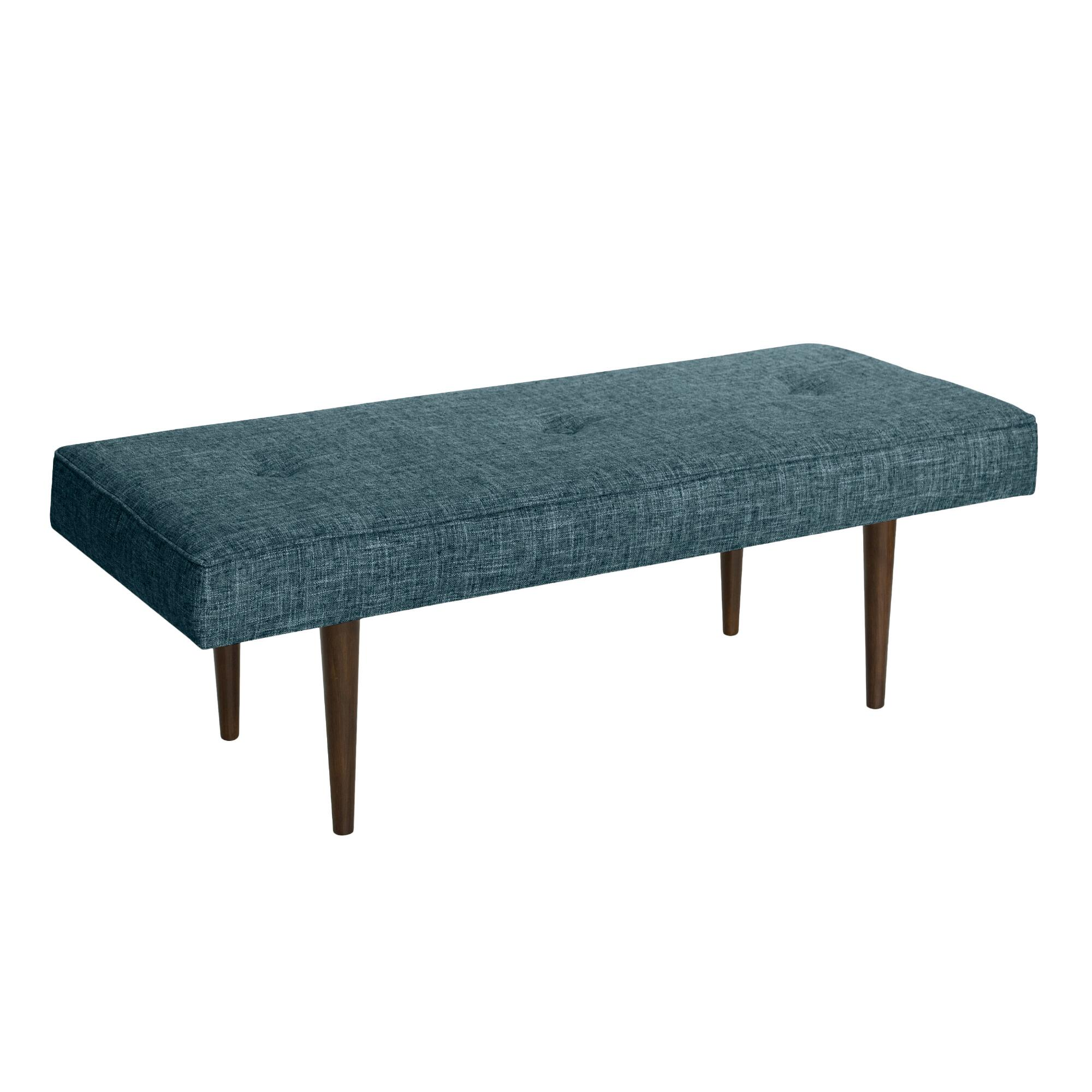 Bram upholstered bench world market Padded benches