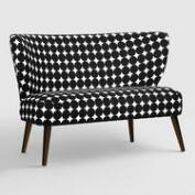 Jet Dotscape Kenway Upholstered Loveseat