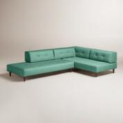 Textured Woven Albin Upholstered Sectional Sofa