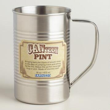 Canteen Stainless Steel Pint Glass
