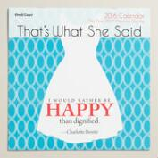 That's What She Said Wall Calendar