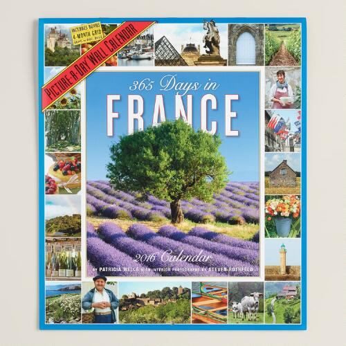 365 Days in France Wall Calendar