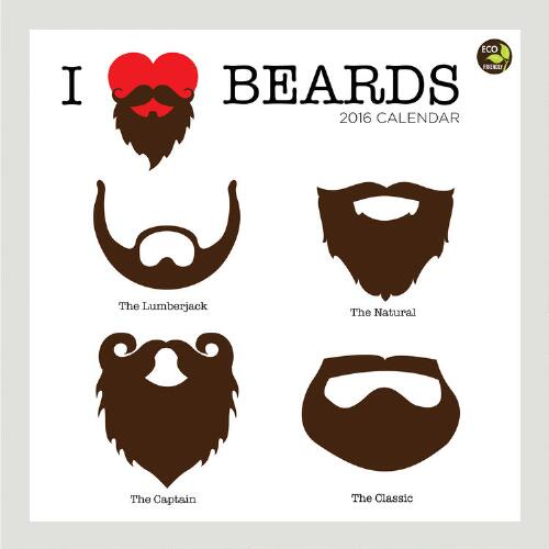 I Heart Beards Wall Calendar