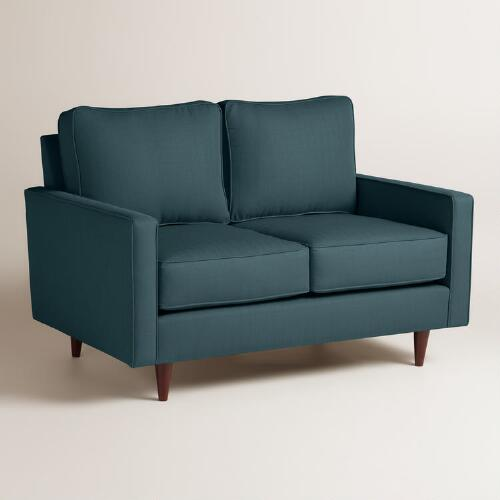 Textured Woven Nashton Upholstered Love Seat