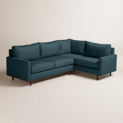 Textured Woven Nashton Left-Facing Upholstered Sectional
