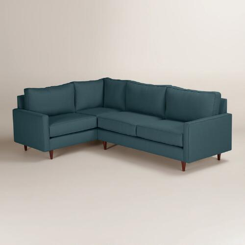 Textured Woven Nashton Right-Facing Upholstered Sectional