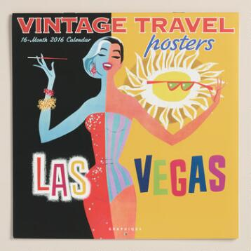 Vintage Travel Poster Wall Calendar