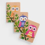 Owls Kraft Journal, Set of 3