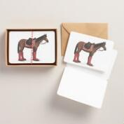 Horse with Boots Kraft Notecards