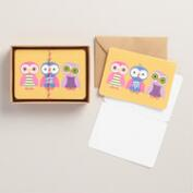 Birthday Owls Kraft Notecards