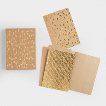 Gold Foil Arrow Notecards, Set of 12
