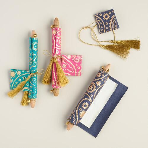 Handmade Paisley Love Note Scrolls, Set of 3