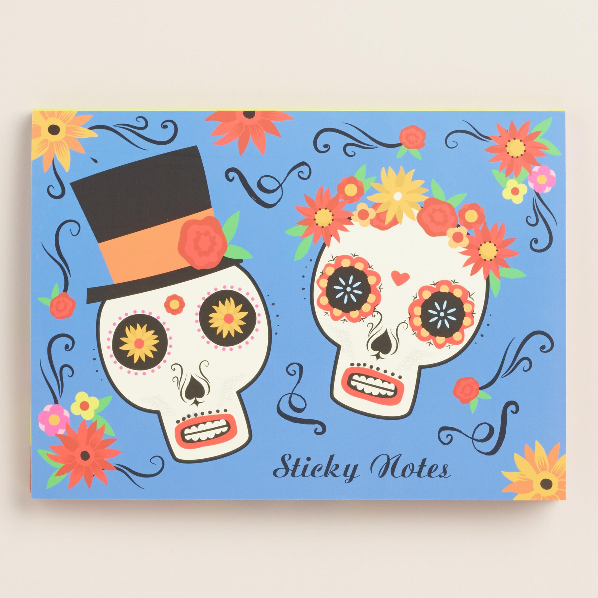 Day of the Dead Sticky Note Pads, Set of 8 | World Market