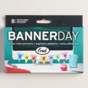 Banner Day Pennant Sticky Notes