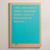 Large Pursuing My Dreams Frank and Funny Notebook