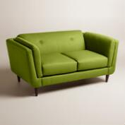 Textured Woven Reza Upholstered Love Seat