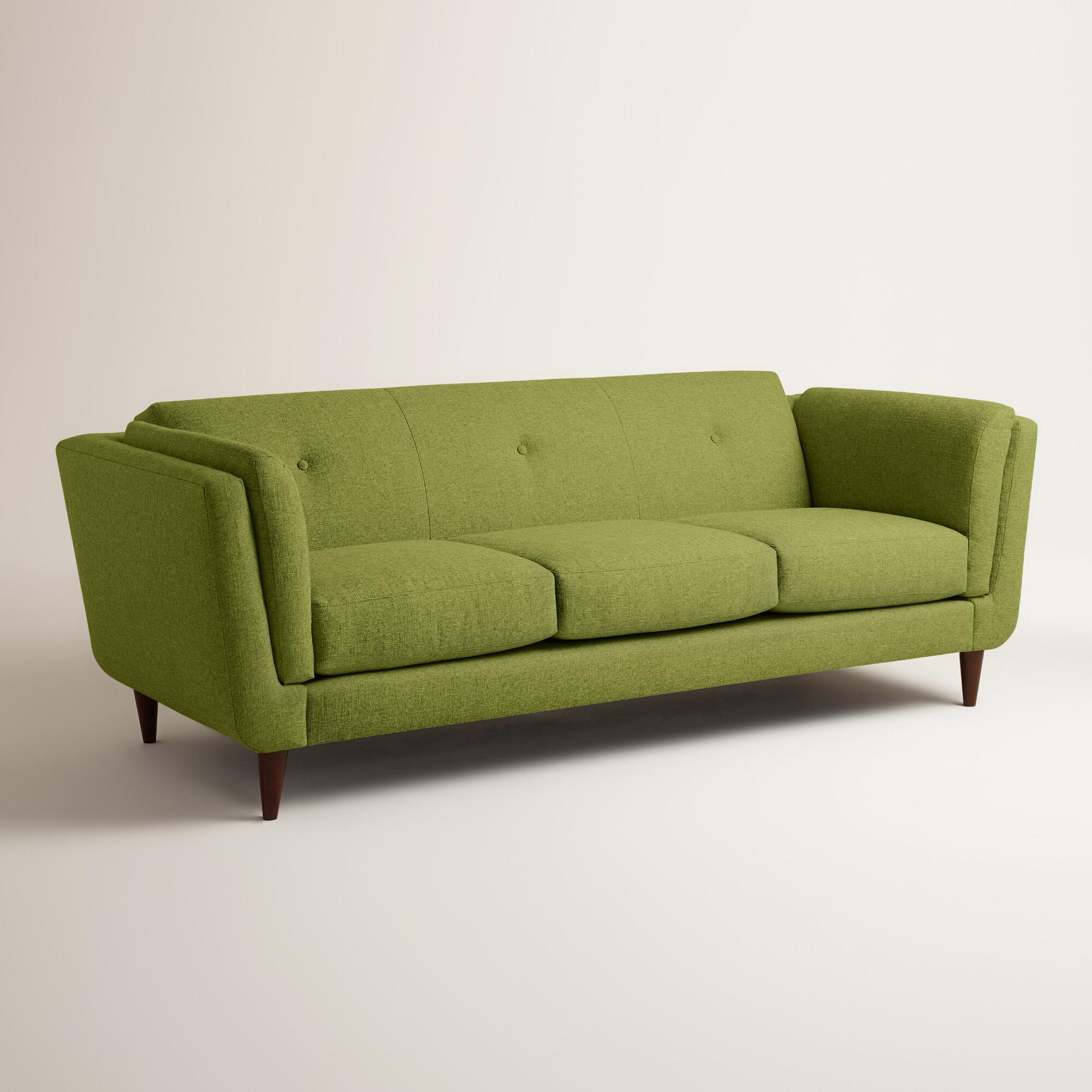 Chunky woven reza upholstered sofa world market Couches and loveseats