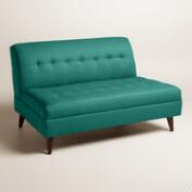 Textured Woven Florian Upholstered Love Seat