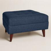 Chunky Woven Florian Upholstered Ottoman
