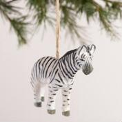 Wood  Safari Animal Ornaments, Set of 6