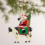 Metal  Santa on Animal Ornaments, Set of 3
