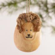 Wood Egg-Shaped Safari Animal Ornaments, Set of 4