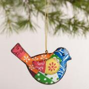 Metal Bird  Ornaments, Set of 3