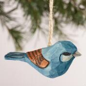 Wood  Bird Ornaments, Set of 6