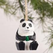 Wood Panda Ornaments, Set of 3