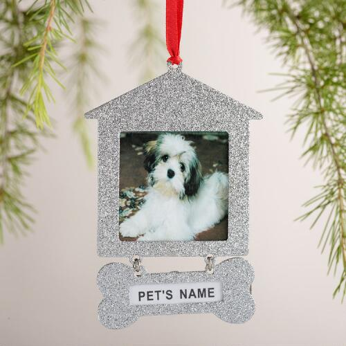 Metal Doghouse Frame Ornaments, 2-Pack