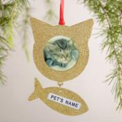 Metal Cat Frame Ornaments, 2-Pack