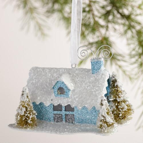Paper House Ornaments,  Set of 3