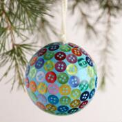 Lacquer Button Ball Ornaments,  Set of 3