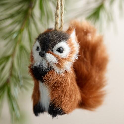 Fabric Chipmunk Ornaments,  Set of 2