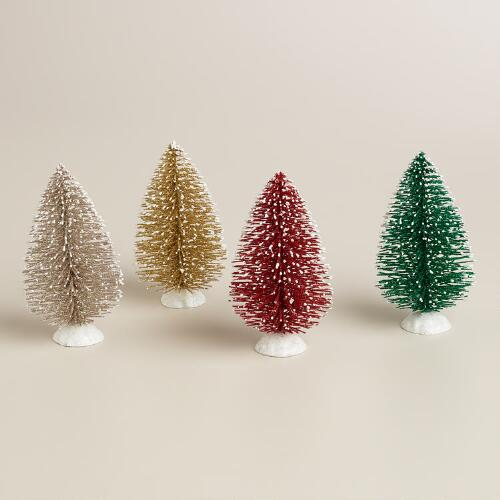 Bottlebrush  Trees-  Set of 4