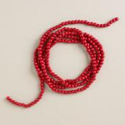 Retro Wooden Cranberry Bead  Garland