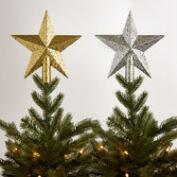 Glittered Star Tree Toppers, Set of 2