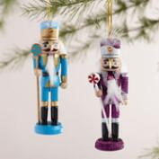 Multicolor Wood Nutcracker Boxed Ornaments, Set of 2