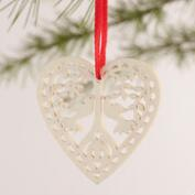Laser-Cut Wood Heart Boxed Ornaments, 12-Pack